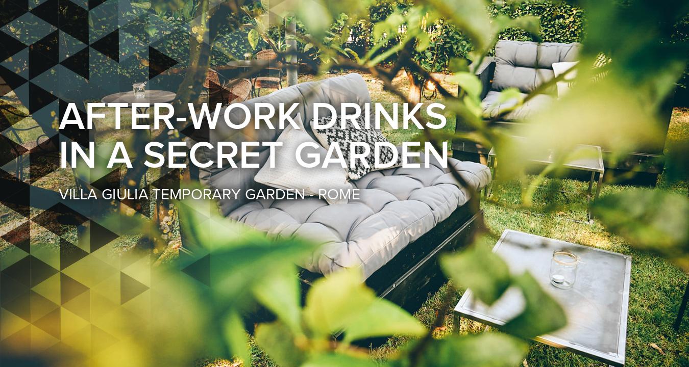 After-work drinks in a secret garden