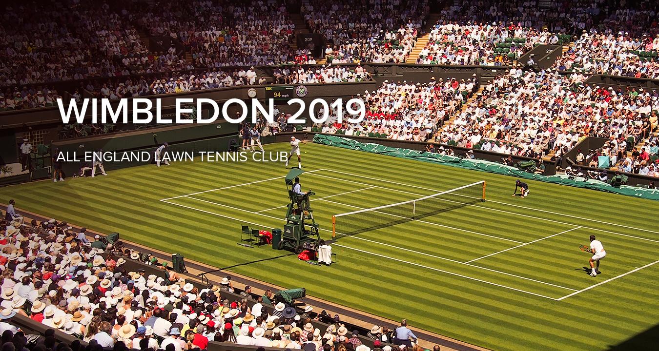 Wimbledon London, UK. 22nd June, 2019. Pedestrians walk past a ...